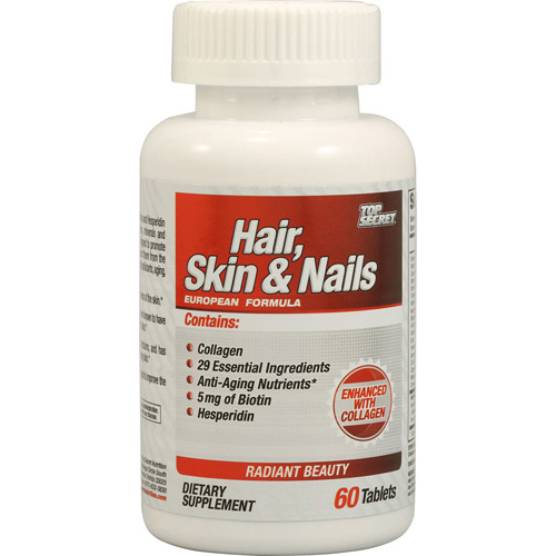 Top Secret Nutrition Hair, Skin and Nails - 60 Tablets: HF