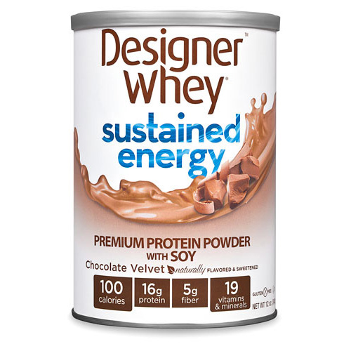 Designer Whey Protein Powder -  Sustained Energy Chocolate Velvet - 12 oz: HF