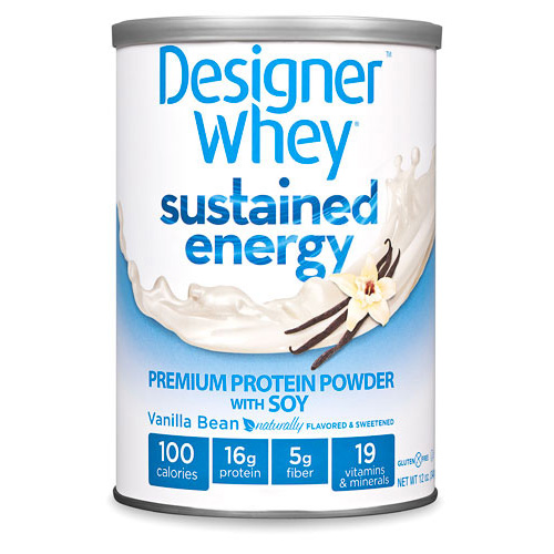 Designer Whey Protein Powder -  Sustained Energy Vanilla Bean - 12 oz: HF