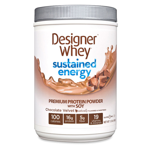 Designer Whey Protein Powder - Sustained Energy - Chocolate Velvet - 1.5 lb: HF