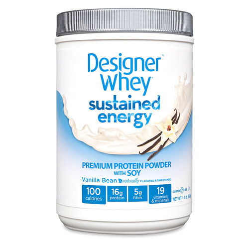 Designer Whey Protein Powder - Sustained Energy - Vanilla Bean - 1.5 lb: HF