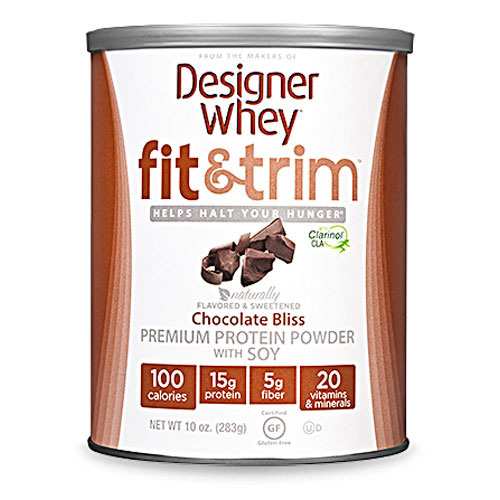 Designer Whey Protein Powder - Fit and Trim Premium Chocolate Bliss Soy - 10 oz: HF