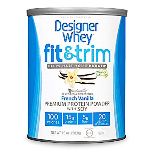 Designer Whey Protein Powder - Fit and Trim Premium French Vanilla Soy - 10 oz: HF