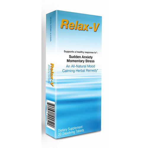 SandJ Nature Products Relax V - Sudden Anxiety and Momentary Stress - 20 Tablets: HF