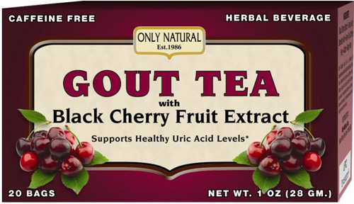 Only Natural Gout Tea - Black Cherry Fruit Extract - 20 Bags: HF