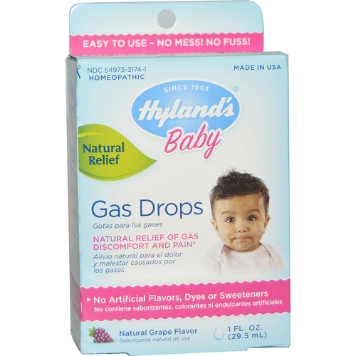 Hylands Homeopathic Baby Gas Drops - 1 fl oz: HF
