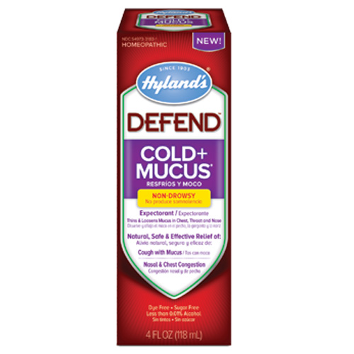 Hylands Homepathic Cold and Mucus - Defend - 4 fl oz: HF