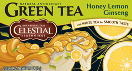 Green Tea,Hny Lemon Ginseng 20 Bag, case of 6: HF