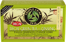 Tea,Decaf Green Ginseng 20 Bag, case of 6: HF