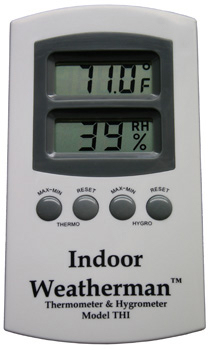 Indoor Weatherman Thermometer & Hygrometer: HY