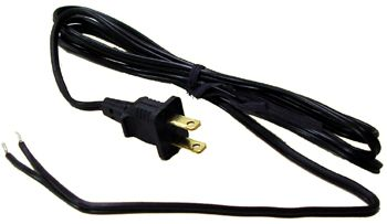 Power Cord with 2 Prong End: HY