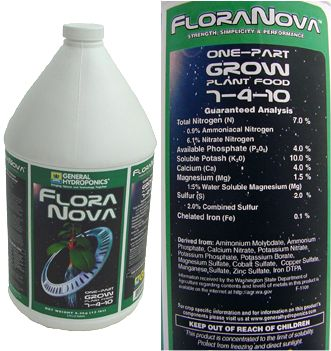 FloraNova Grow 7-4-10 Plant Food 1 gallon: HY