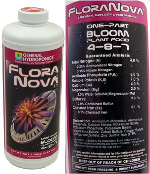 FloraNova Bloom 4-8-7 Plant Food 1 quart: HY