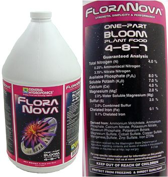 FloraNova Bloom 4-8-7 Plant Food 1 gallon: HY