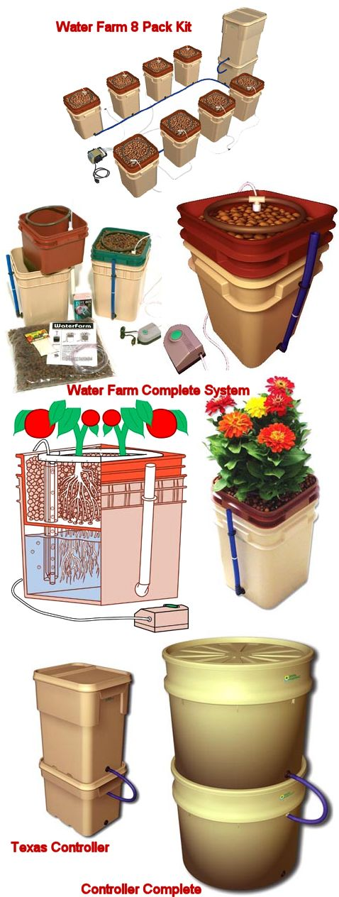 WaterFarm Drip Hydroponic 8 Pack Complete Kit: J