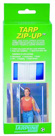 Tarp Zip-Up Peel and Stick Zipper System, pack of 2: J