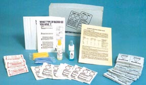 Lyophilized (Freeze Dried) ABO Blood Typing Kit (for 50 Students): SP