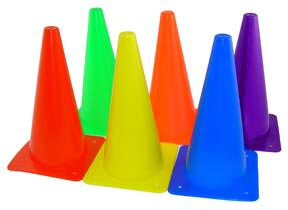12'' Poly Cones - Set of 6 Colors: SP