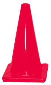 12'' Traffic Cone - Red: SP