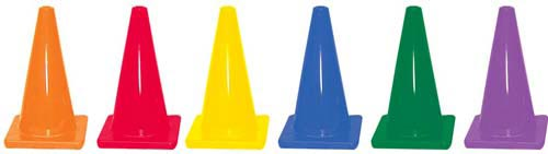 12'' Colored Traffic Cones - Set of 6: SP