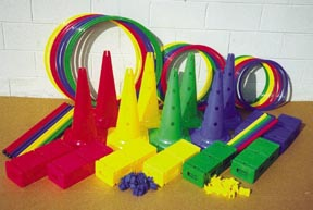 Deluxe Activity Kit w/ 20'' Hurdle Cones: SP