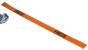 4' Poly Finish Line - Orange: SP