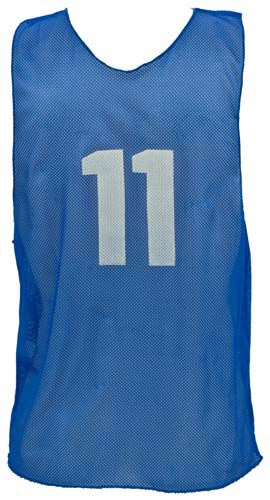 Numbered Youth Micro Mesh Vests - Blue: SP