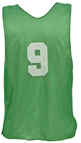 Numbered Adult Micro Mesh Vests - Green: SP