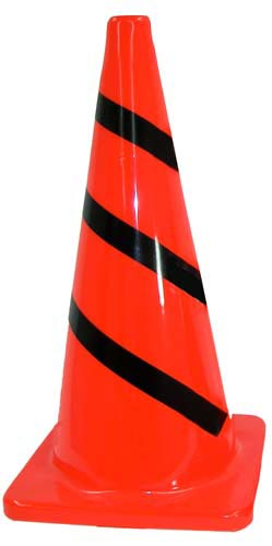 28'' Striped Traffic Cone: SP