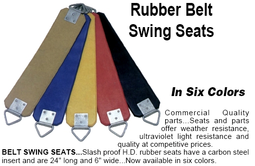 5/16'' Vandal-Proof Rubber Swing Seat - Black: SP