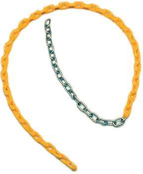 Coated Swing Chain - 8.5' x 3/16'' (Yellow): SP