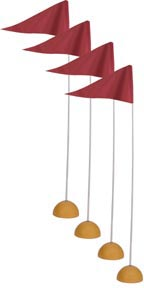 Universal Indoor/Outdoor Corner Flags: SP
