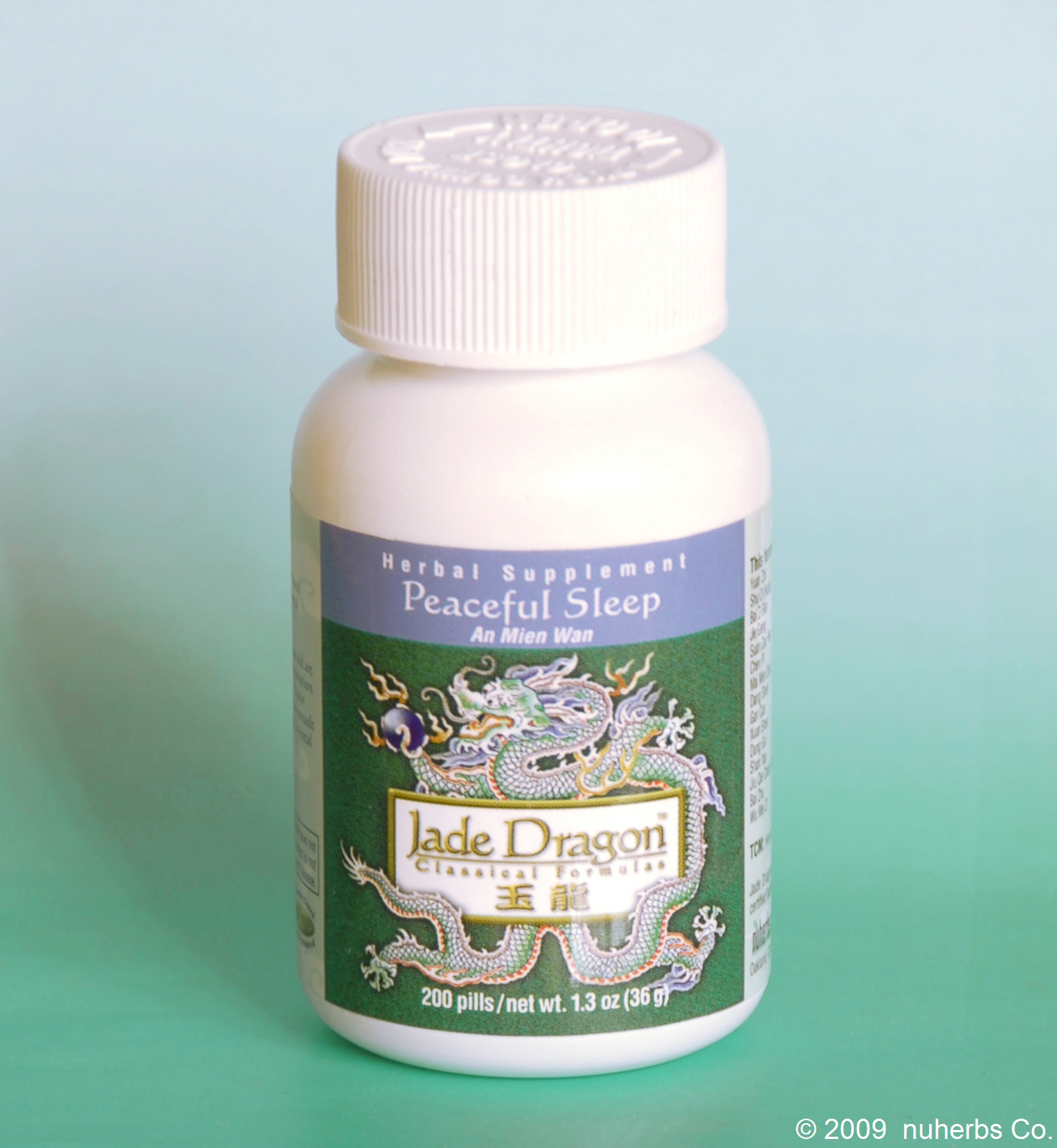 Jade Dragon Peaceful Sleep (An Mien Wan) 200 Pills: TC