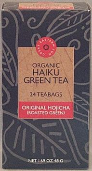 Japanese Roasted Green (Hojicha) Organic Haiku Tea 16 tea bags: K