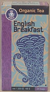 Organic English Breakfast Tea 16 tea bags: K