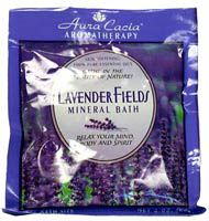 Lavender Fields Aromatherapy Mineral Bath 2.5 oz Packet: K