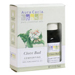 Aura Cacia Clove Bud (in box), 0.5 fl oz bottle: K