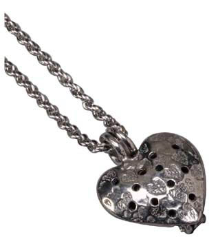 Heart Diffuser Pendant Necklace w/ 24'' Chain: K