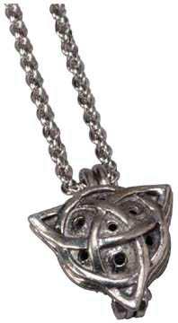 Celtic Diffuser Pendant Necklace w/ 24'' Chain: K