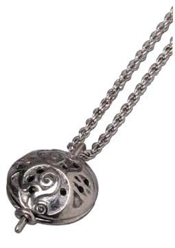 Oriental Dome Diffuser Pendant Necklace w/ 24'' Chain: K