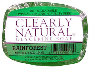 Rainforest Vegetable Glycerine Bar Soap 4 oz: K