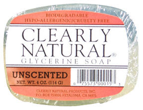Unscented Vegetable Glycerine Bar Soap 4 oz: K