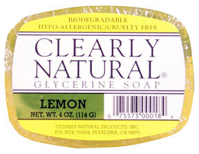 Lemon Vegetable Glycerine Bar Soap 4 oz: K