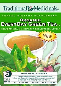 Organic EveryDay Green Tea 16 tea bags: K