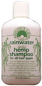 Rainwater Herbal Hemp Shampoo for All Hair Types 18 fl oz: K