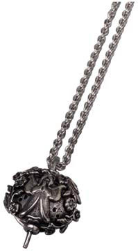 Angel Diffuser Pendant Necklace w/ 24'' Chain: K