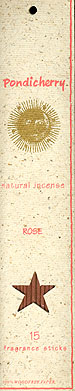 Rose Natural Incense 15 sticks: K