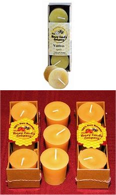 Beeswax Candle Votives 3 count: K