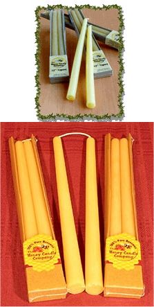 "Beeswax Candle 12"" Tapers 2 pack: K"