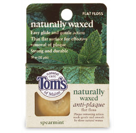 Naturally Waxed Anti-Plaque Flat Floss Spearmint 32 yards: K